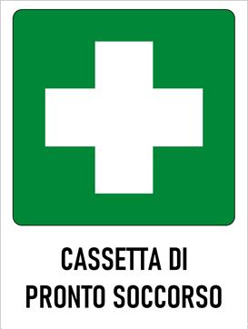 cartello della cassetta di pronto soccorso